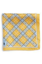 Men's Robert Talbott Plaid Silk Pocket Square