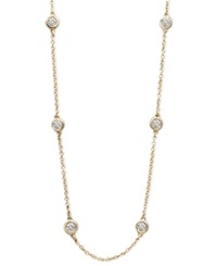 Effy Collection Trio By Effy Diamond Diamond Seven Station 16 18' 1 2 Ct. T.W. In 14K White Yellow Or Rose Gold Yellow Gold