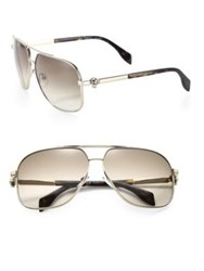 Alexander Mcqueen 63Mm Navigator Sunglasses Gold
