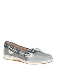 Sperry Dunefish Leather Boat Shoes Grey