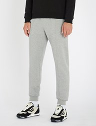 Bally Logo Embroidered Cotton Jersey Jogging Bottoms Grey