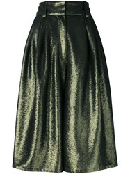 Marc Jacobs Micro Sequin Culotte Trousers Green