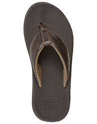 Reef Phantom Leather Thong Sandals Brown