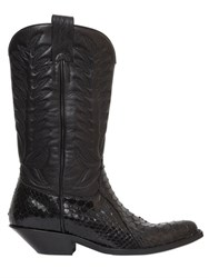 Sonora 40Mm Python And Leather Cowboy Boots