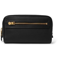 Tom Ford Full Grain Leather Wash Bag Black