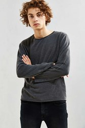 Neuw Enkel Cropped Fleece Sweatshirt Stone