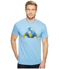 Marmot Hew Tee Short Sleeve Light Blue Heather Men's T Shirt