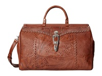American West Retro Romance Duffel Bag Brown Handbags