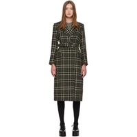 Alexachung Green Tailored Belted Peacoat