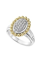 Women's Lagos Diamond Caviar Oval Ring