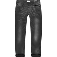 Only And Sons River Island Dark Grey Skinny Fit Jeans