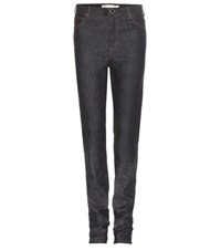 Victoria Beckham High Waisted Slim Jeans Blue