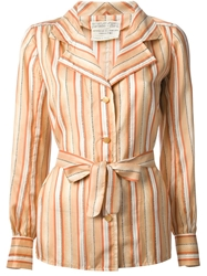Emanuel Ungaro Vintage Striped Shirt Yellow And Orange