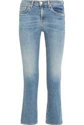Rag And Bone Mid Rise Straight Leg Jeans Light Denim
