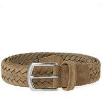 Andersons Anderson's Woven Suede Belt Green