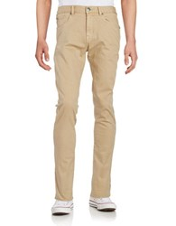 Miscellaneous Slim Fit Dark Wash Jeans Tan
