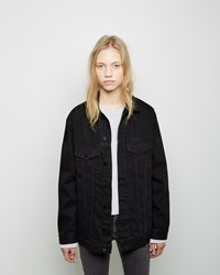Alexander Wang Daze Denim Jacket Black Fade
