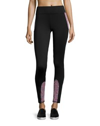 Marc New York Marc Ny Performance High Tech Colorblock Activewear Leggings Black Multi
