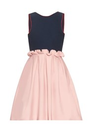 Mother Of Pearl Lola Tie Back Sleeveless Dress Pink Navy