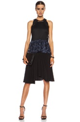3.1 Phillip Lim Embroidered Lace Tank Silk Dress In Black Floral