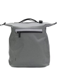 Ally Capellino Structured Square Backpack Grey