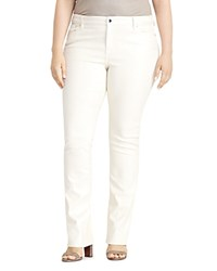 Ralph Lauren Plus Coated Straight Jeans Pearl