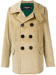 Dsquared2 Double Breasted Coat Brown