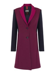 Pennyblack Aiuola Colour Block Wool Coat Multi Coloured