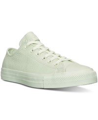 Converse Women's Chuck Taylor Ox Pastel Leather Casual Sneakers From Finish Line Pistachio Green
