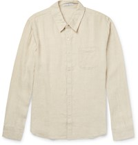 James Perse Slim Fit End On End Linen Shirt Neutrals