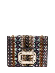 Roger Vivier Micro Pilgrim Denim And Swarovski Clutch