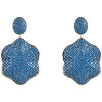 Latelita London Royal Blue Pave Earring Blue Gold
