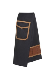 Kolor Wraparound Wool Blend Skirt