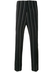 Haider Ackermann Striped Trousers Black