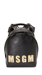 Msgm Logo Backpack Black