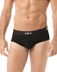 Naked Essential Stretch Cotton Brief Pack Of 2 Black