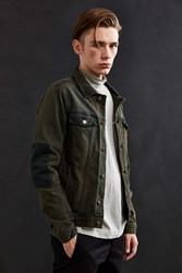 Barney Cools Rourke Denim Trucker Jacket Olive