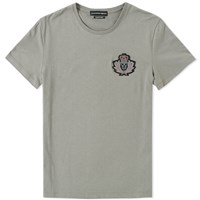 Alexander Mcqueen Military Badge Tee Grey