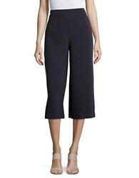 Ellen Tracy Solid Cropped Palazzo Pants Blue