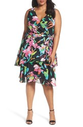 Tahari Plus Size Women's Faux Wrap Dress