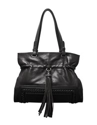 Sondra Roberts Leather Shoulder Bag Black