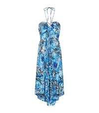 Gottex Leo Bandeau Dress Female Blue