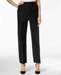 Alfred Dunner Pull On Ankle Pants Black