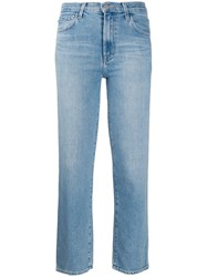 J Brand Faded Cropped Jeans Blue