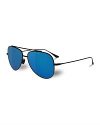 Vuarnet Swing Titanium Pilot Polarized Sunglasses Black Blue