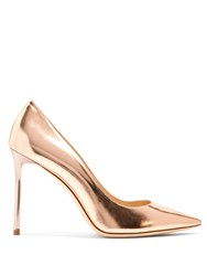 Jimmy Choo Romy 100Mm Leather Pumps Pink