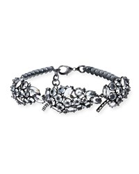 Lulu Frost Diamanda Crystal Collar Necklace Silver