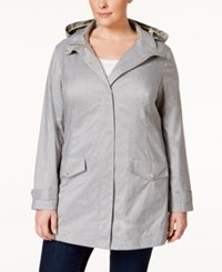 Charter Club Plus Size Hooded Anorak Jacket Only At Macy's Grey