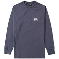 Stussy Long Sleeve Basic Tee Blue