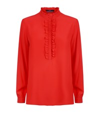 Set Frill Neck Blouse Red